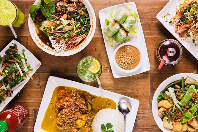 pho cafe - vegan menu