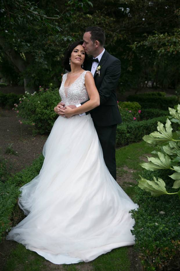 Vanessa found her dream Nicole Spose dress for her wedding day from Bridal by Nikki. Makeup: Mrsmakeup. Hair: Lorna Davis. Photo: Cathal Farrelly www.irishweddingvideo.com