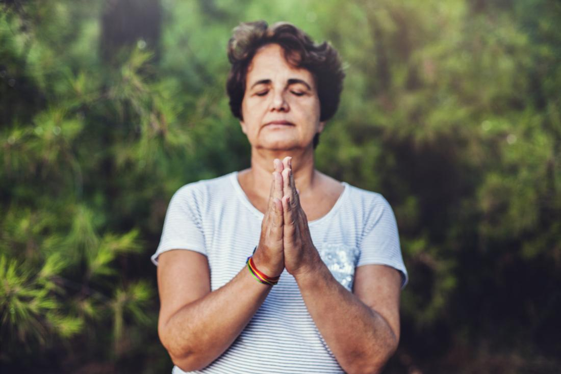 Woman meditating mindfulness