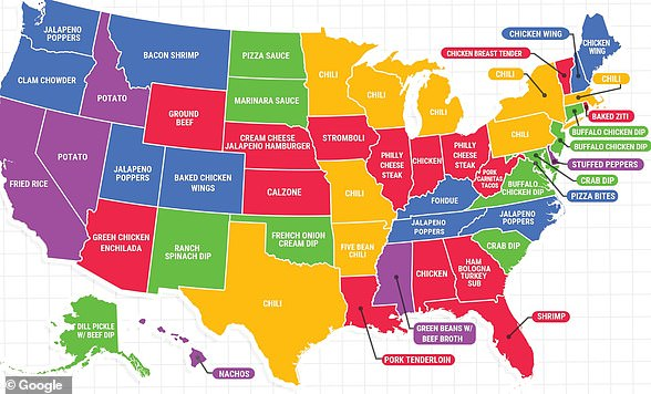 This Google Trends map shows what dishes Americans are making in each state