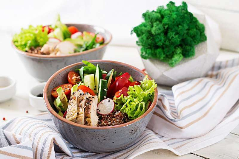 buddha-bowl-dish-with-chicken-fillet-quinoa
