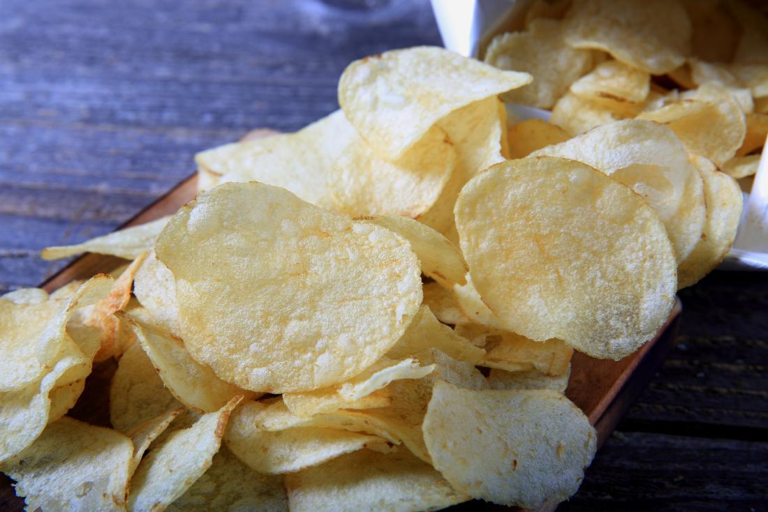 Potato chips or crisps
