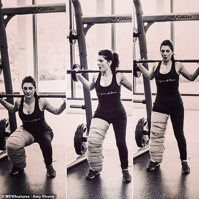 She pushed herself to learn to do things she'd always been told were impossible, like doing back squats, even while her right leg was three times the size of the left