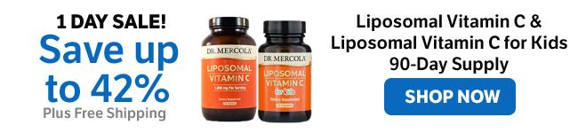 Save up to 42% on Liposomal Vitamin C & Liposomal Vitamin C for Kids 90-Day Supply
