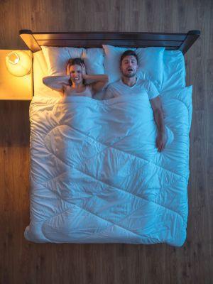 Snoring man upsets bed partner
