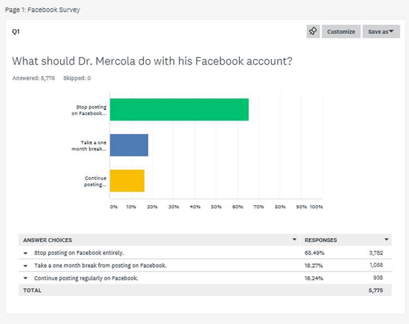 facebook survey