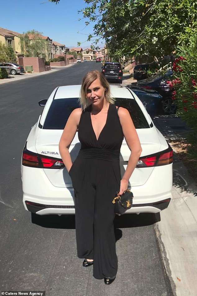 Vanessa, who lives in Las Vegas, said she was at risk of ending up bed-bound like her patients and vowed to changed her fate (pictured after the loss)