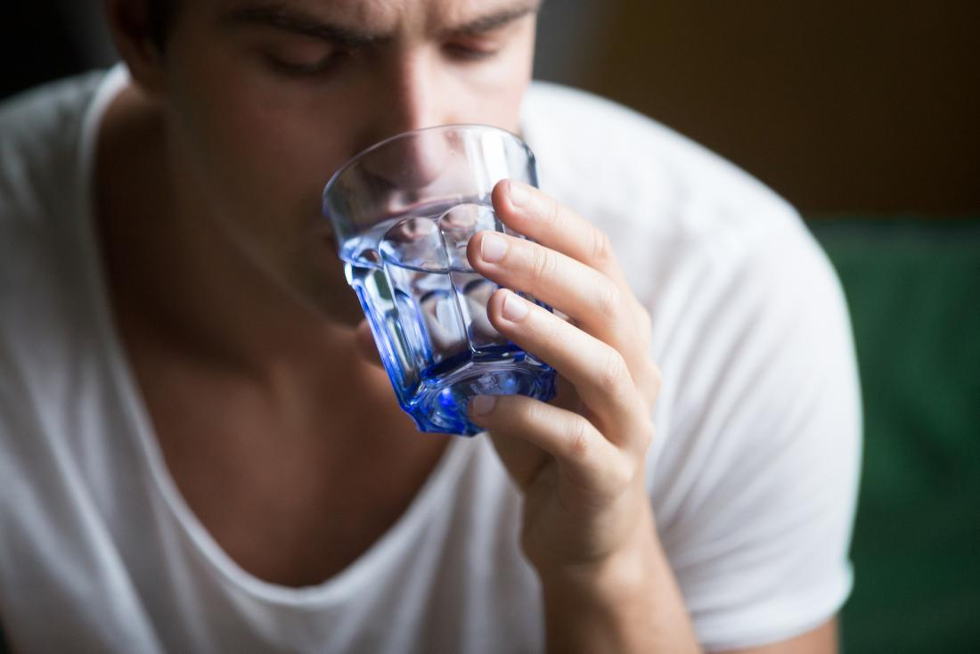 Low urine output drinking water