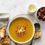 Try this: Spicy chestnut, pumpkin & pancetta soup