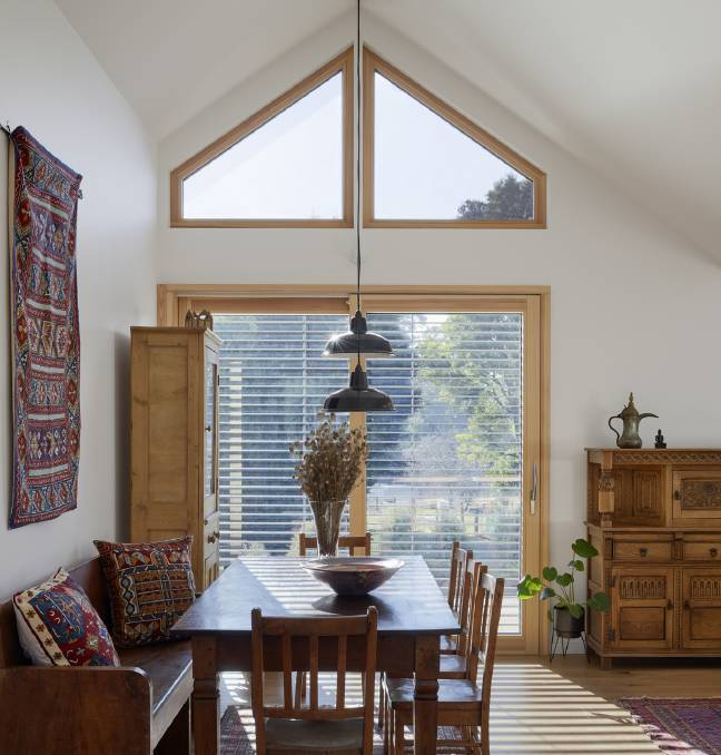 LIGHT AND BRIGHT: The home takes advantage of the winter sun to provide passive heating.