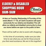 Clark's Nutrition to open early exclusively for elderly and disabled shoppers – KESQ