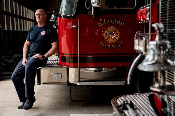 Kurt Becker, a paramedic firefighter in St. Louis County, has been urging his union members to seek therapy during the pandemic.