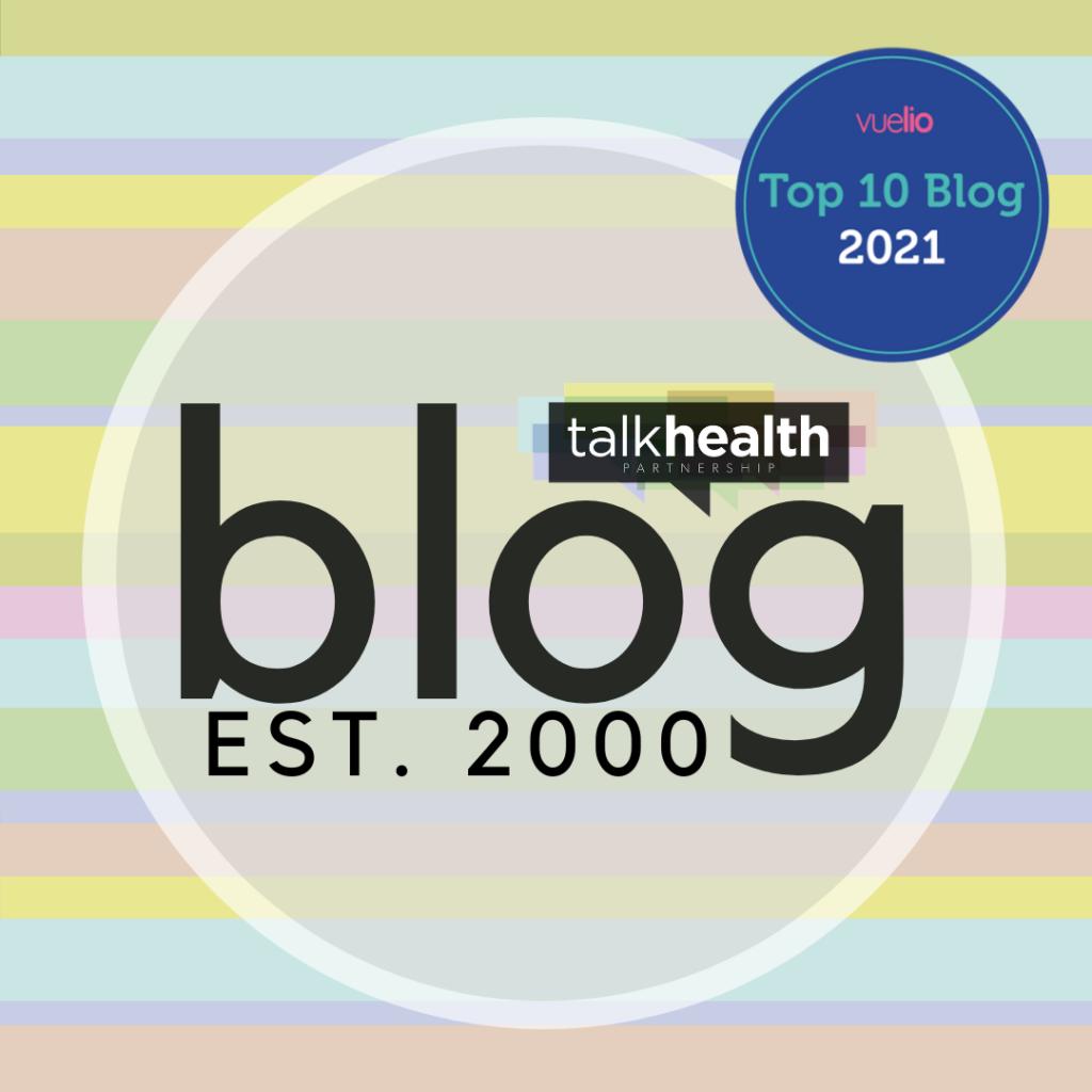 talkhealth logo with top 10 healthcare blog accolade